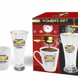 Комплект чаши за кафе и бира