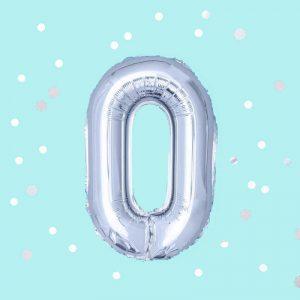 балон с клечка цифра