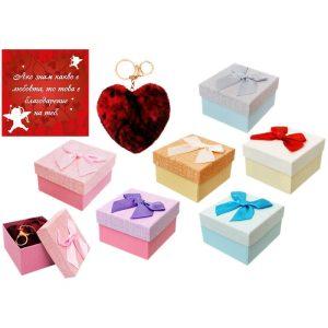Подарък за гадже за Коледа червено сърце с пожелание и снимка