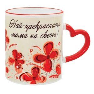 Комплект за мама чаша със златна роза