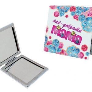 Комплект златна роза и огледалце за мама в кутия