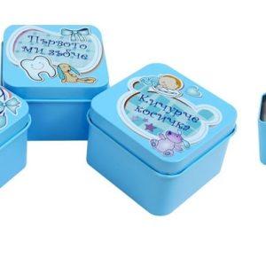 Метални кутийки пъпче зъбче и кичурче